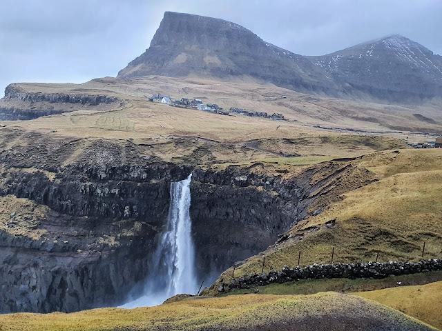 Mulafossur Waterfalls Faroe Islands