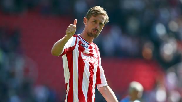 Towering striker Peter Crouch