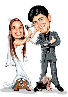 caricatura de noiva médica