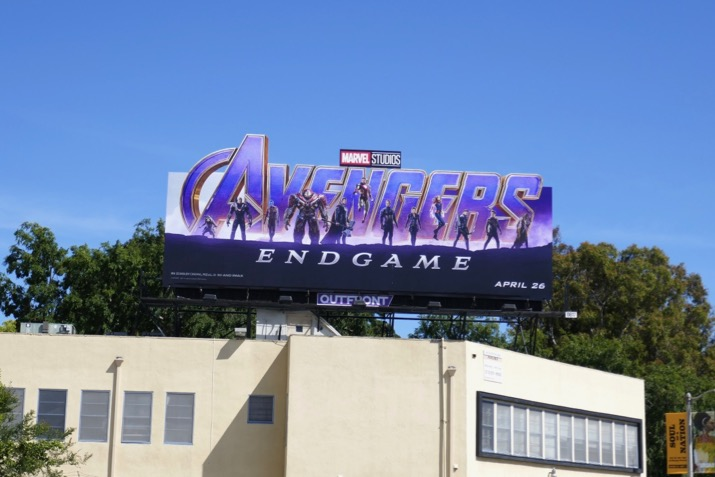 Avengers Endgame cut-out billboard