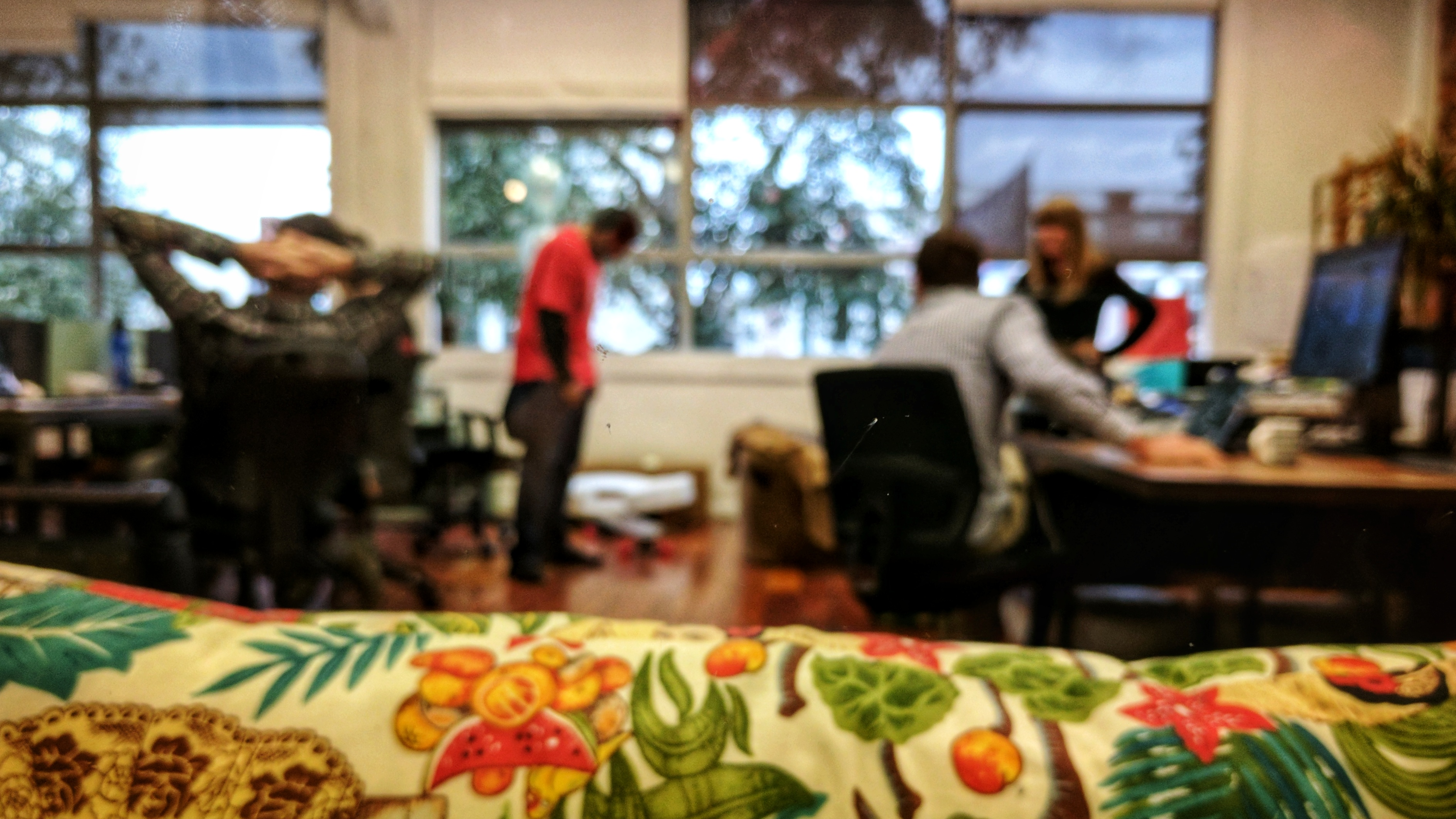 Out of focus Manifold coworking space in New Plymouth (NZ)