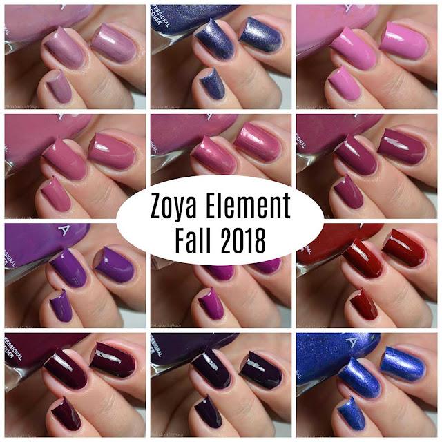 zoya fall 2018 nail polish collection
