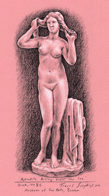 Aphrodite Rising from the Sea. Museum of Fine Arts, Boston. by Travis Simpkins