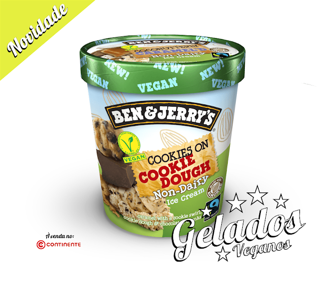 NOVO GELADO VEGAN COOKIES ON COOKIE DOUGH DA BEN & JERRY'S
