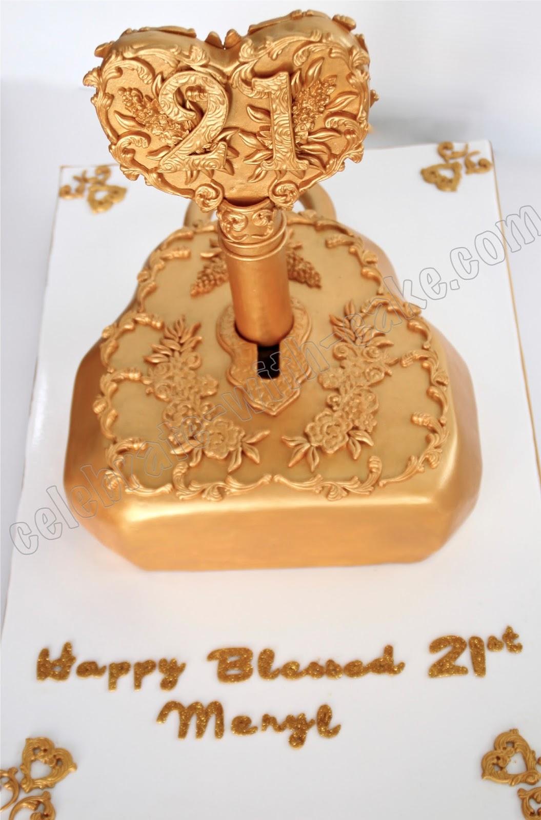 21st Birthday Vintage Lock Amp Key Cake
