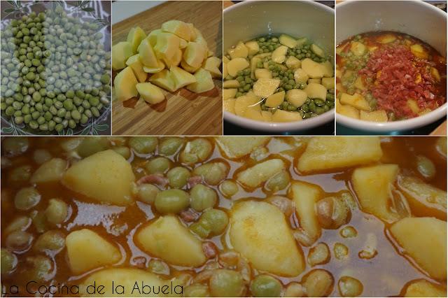 Cocido de guisantes secos