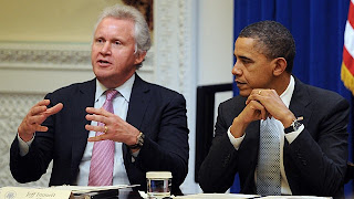 Obama and General Electric Co Chief Jeffrey Immelt
