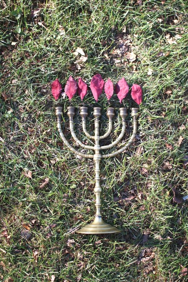 Fall leaf menorah | Land of Honey