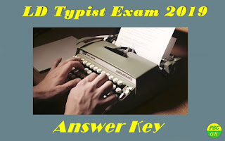 Kerala PSC LD Typist Exam 2019 Answer Key