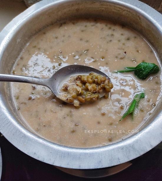 resepi bubur kacang hijau senang