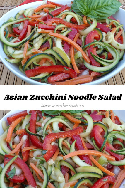 Asian Zucchini Noodle Salad - Veggies First, Then Dessert