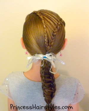stripe ponytail braided hairstyle