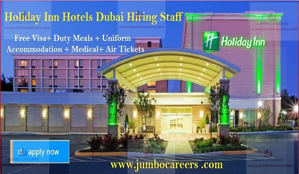 Free visa jobs in Gulf countries, UAE hotel jobs with salary and benefits,