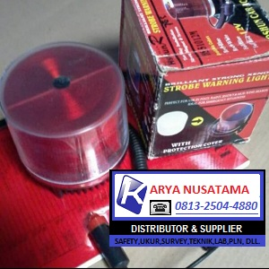 Jual Warning Light Strobo 12V Merah di Gresik