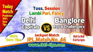 IPL 2019 46th Match Prediction Tips by Experts DC vs RCB