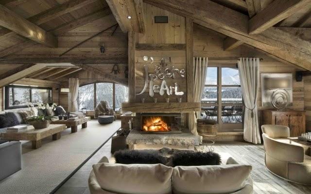 Salas de estar con chimenea salas con estilo - Chimeneas con estilo ...