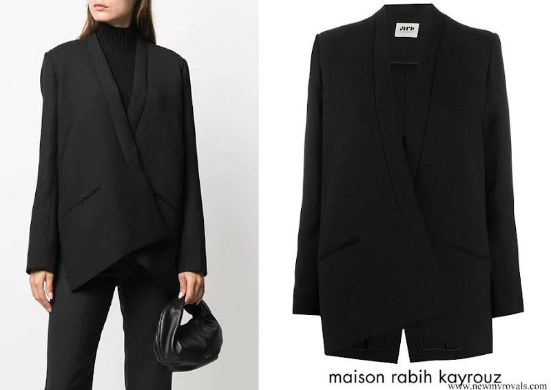 Duchess Maria Teresa wore Maison Rabih Kayrouz crossover blazer jacket