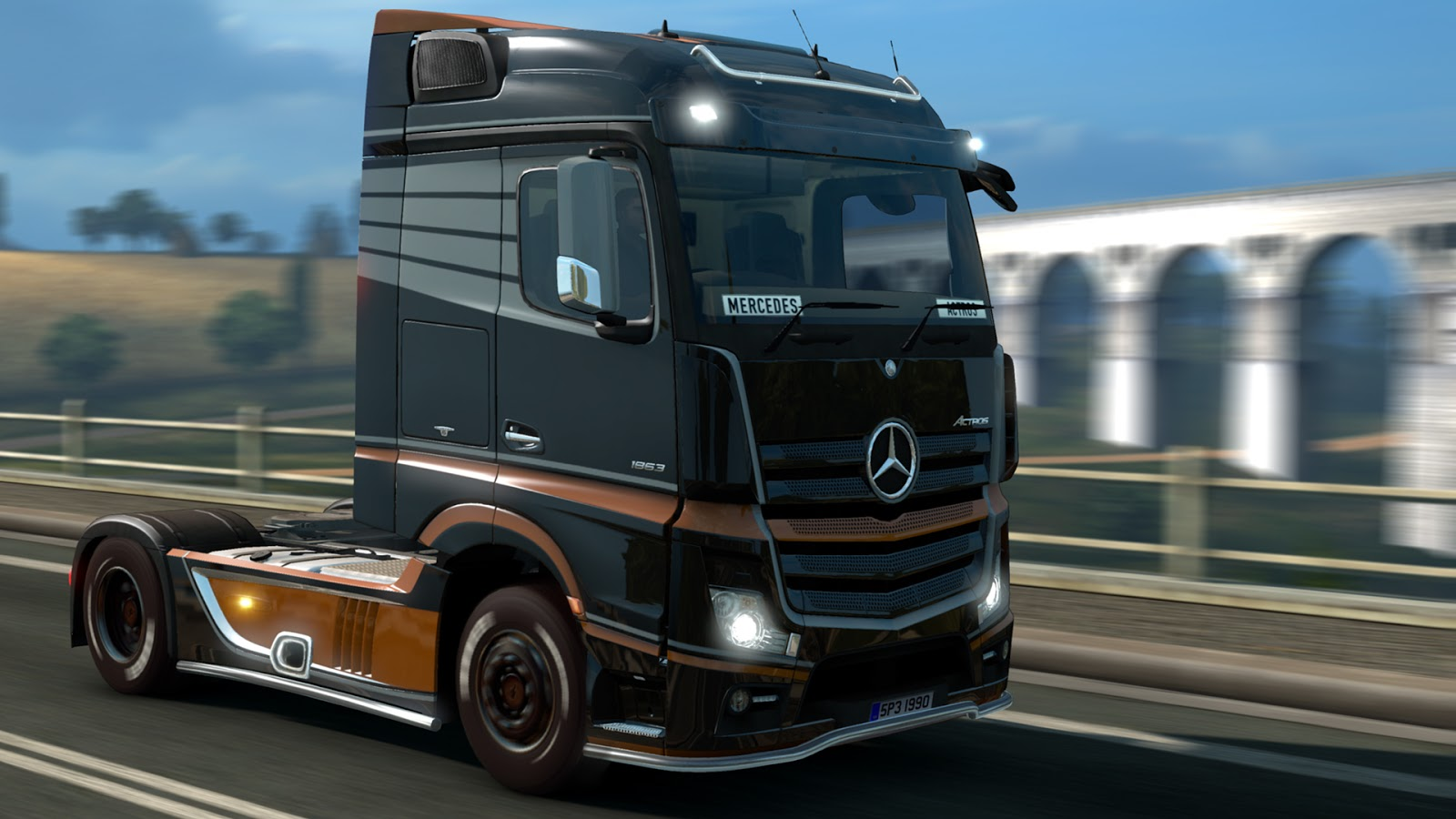 scs software 39 s blog get behind the wheel of mercedes benz new actros right now update is ready. Black Bedroom Furniture Sets. Home Design Ideas