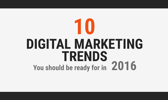 10 Digital Marketing Trends to Look for in 2016