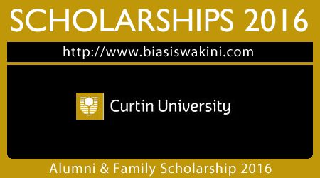 Curtin University Alumni and Family Scholarship 2016