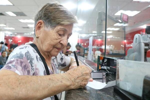 Este lunes inicia cobro de pensiones en taquilla sin restricciones de fecha ni terminal de cédula