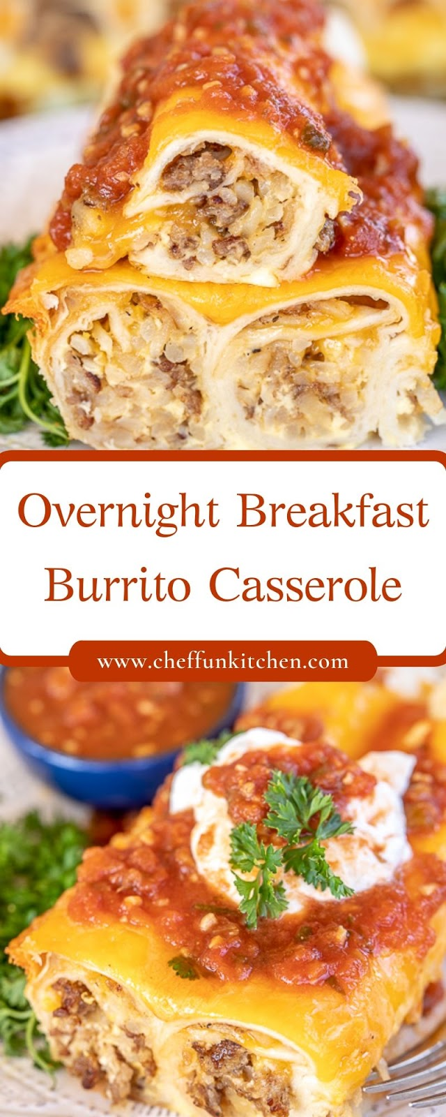 Overnight Breakfast Burrito Casserole
