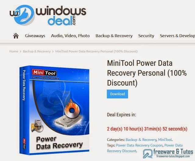 Offre promotionnelle : MiniTool Power Data Recovery gratuit (pendant 3 jours) !