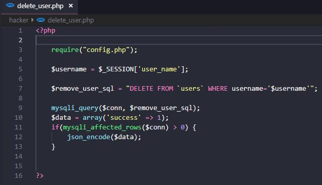CSRF Delete Page Codes