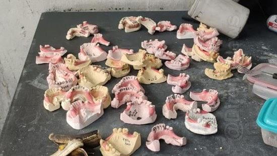 policia fecha laboratorio protetico material cemiterios