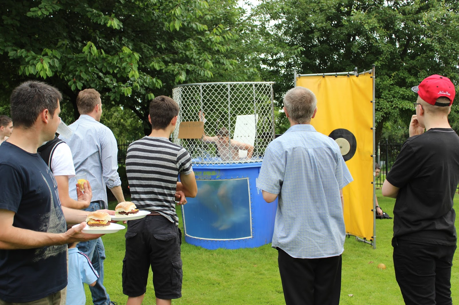 Dunking booth baptisms - Ethan Was One Of The Young Men Who Volunteered To Be Dunked In The Dunk Tank