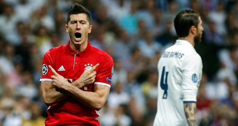 Robert Lewandowski saat melawan Madrid