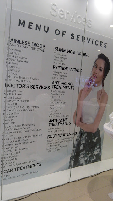 dermax laser center menu of services