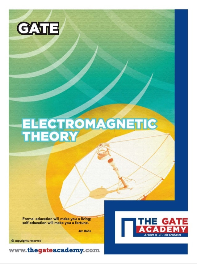 ELECTROMAGNETIC THEORY THE GATE ACADEMY BOOK PDF DOWNLOAD FREE