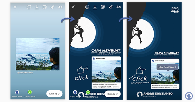Cara Membuat Custom Background Instagram Story di Android dan IOS