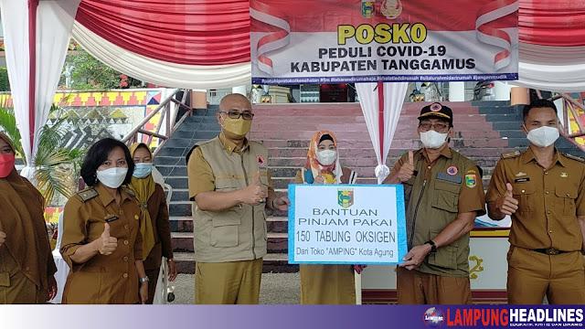 Bupati Tanggamus Launching Posko Peduli Covid-19 Secara Virtual
