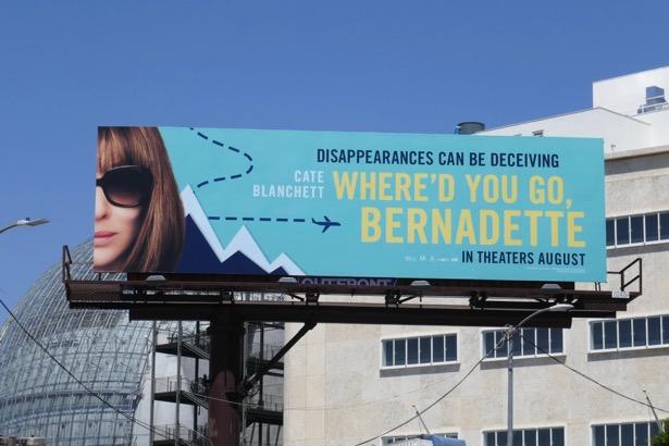 Whered You Go Bernadette movie billboard