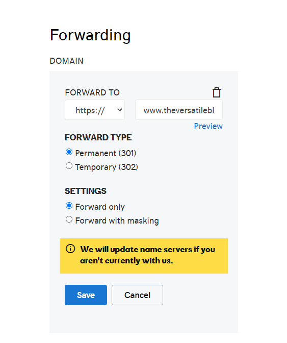 Fix Custom Domain Not Working Without 'www' In Blogger   Forwarding Domain