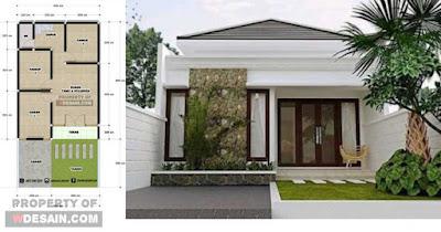 desain rumah 6x12 3 kamar 1 lantai