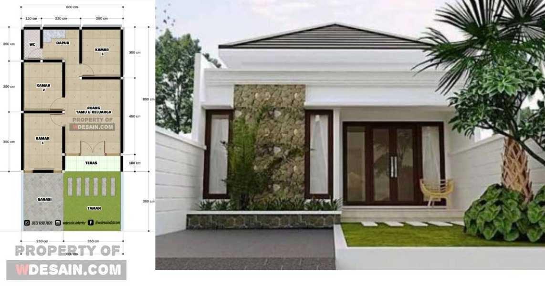 Desain Rumah 6x12 3 Kamar 1 Lantai Desain Rumah Minimalis
