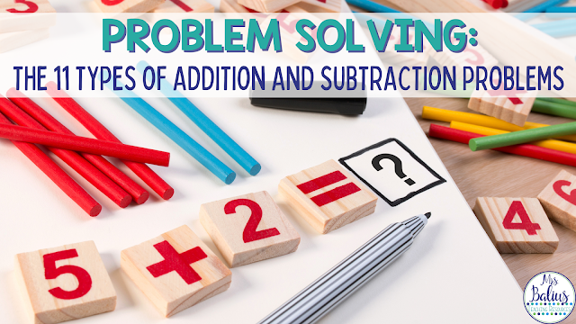 Help your students master problem solving by teaching them the 11 types of addition and subtraction problems and strategies and techniques for solving them.