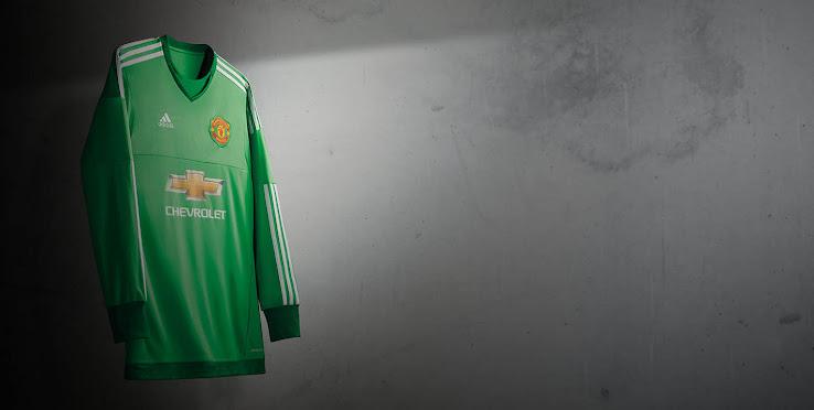 34c56496629 Adidas Manchester United 15-16 Goalkeeper Kits Revealed - Footy ...