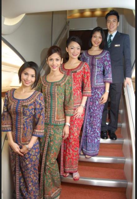 Stelan batik ala Singapore Airlines