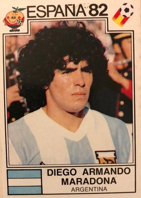 Diego Maradona Spagna 82 figurina