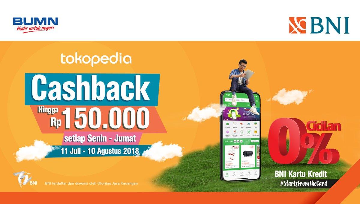 Bank BNI - Voucher Cashback s.d 150 Ribu (s.d 10 Agustus 2018)