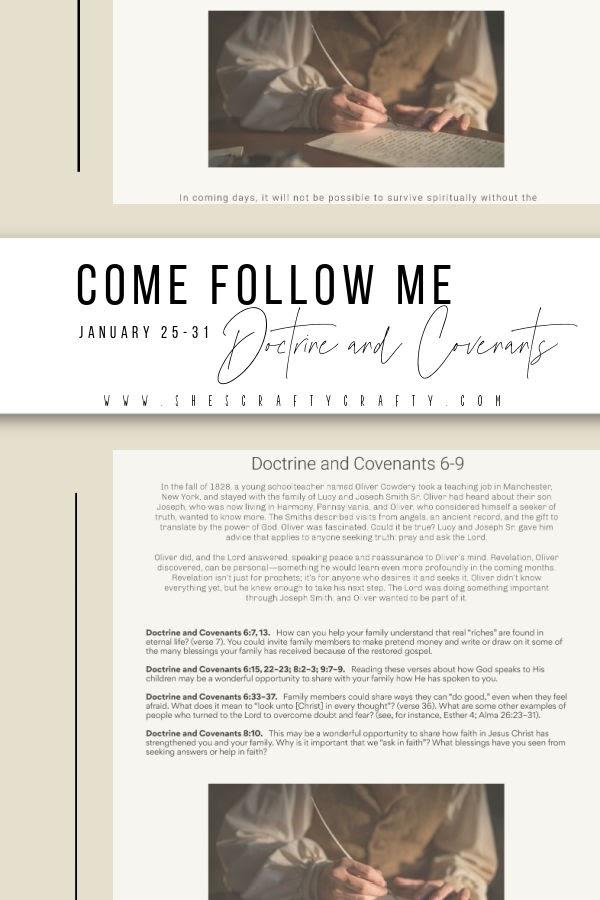Come Follow Me study at home Free Printable