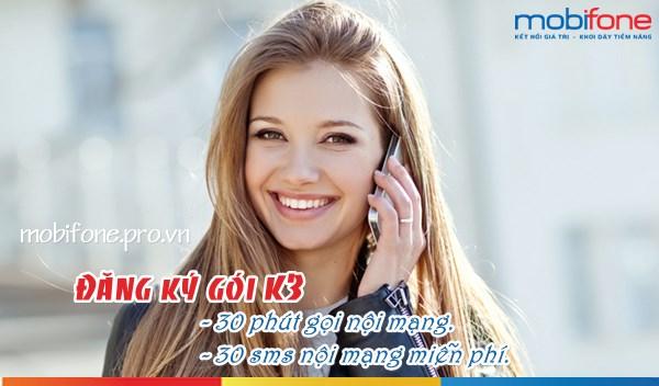 Gọi thoại, nhắn tin thả ga với chỉ 3.000đ/ngày cùng gói K3 Mobifone