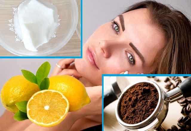 تقشير الوجه بالقهوة والليمون -العناية بالبشرة