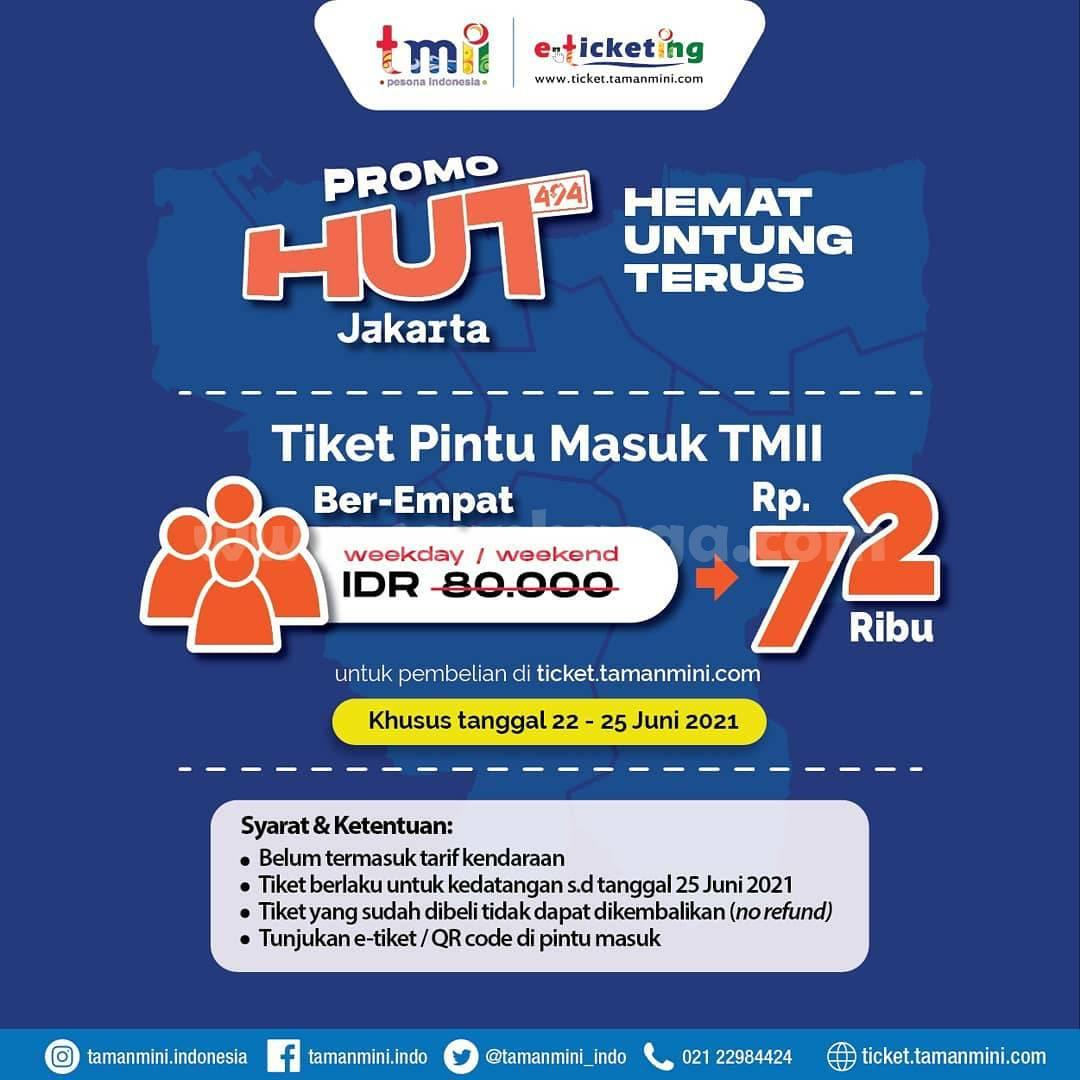 Promo TAMAN MINI HUT JAKARTA - Tiket Masuk TMII BER4 Rp. 72 RIBU