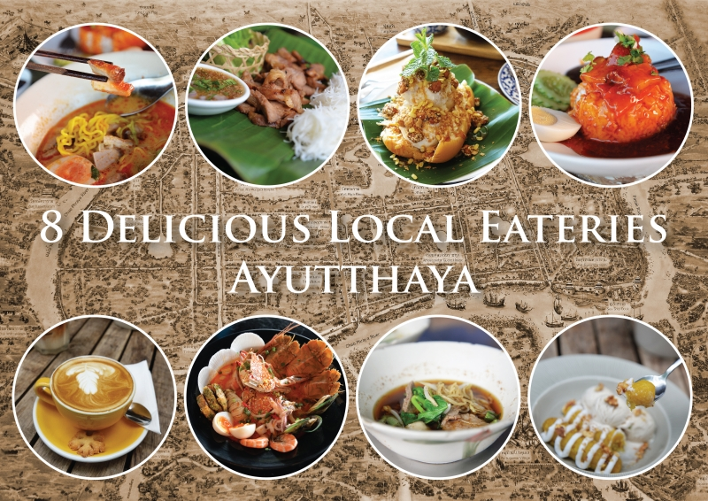 Endless traveling map for Ayutthaya thai cuisine bar