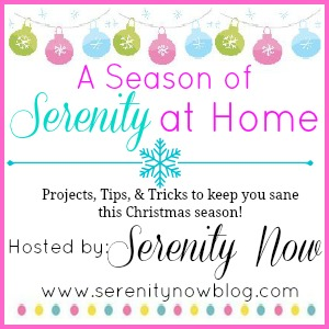 Christmas Series of Projects, Recipes, Tips, and more at Serenity Now!
